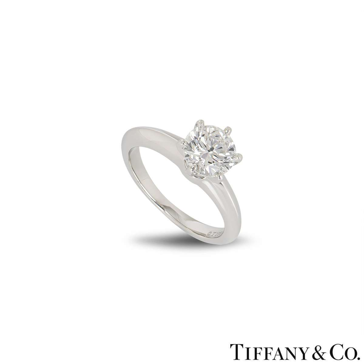 Tiffany & Co. Platinum Diamond Setting Ring 1.01ct I/VS2 XXX